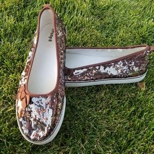 Reversible Sequined Slip-on Shoes